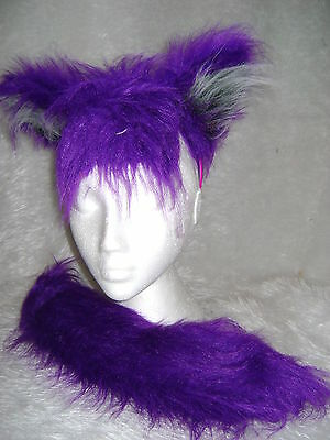 Kiera The Bat From Sonic The Hedgehog Ears And Tail Faux Fur Fancy Dress Set - Tails Sonic Kostüm