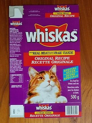 Whiskas 1990's Dry Cat Food Box with Power Point Offers Flat Never Used