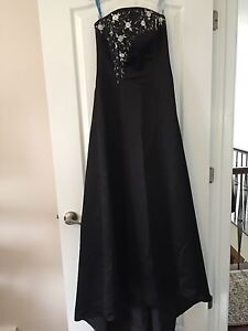 Long formal black gown with shawl
