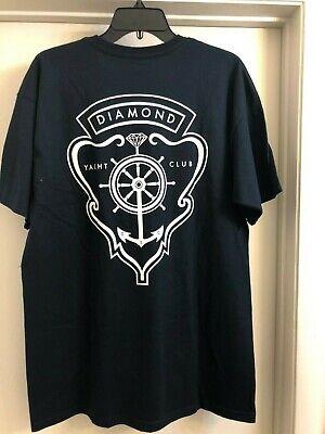 Diamond Supply Co. Yacht Crest Navy T-Shirt (Men's, Size L)