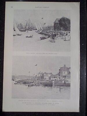Yacht Racing Regatta Week Cowes England Harper's Weekly 1899 Original Print