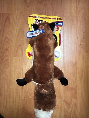 (Pawdoodles Krinklers Dog Toy, Fox, Large. replaceable  water bottle inside )