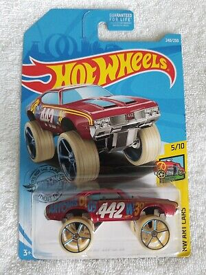 🔥 2019 Hot Wheels Olds 442 W-30 #240 [Red] HW Art Cars 👀 🚗