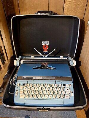 Vtg Smith- Corona Coronet Automatic 12 Electric Typewriter Working 2 Tone Blue
