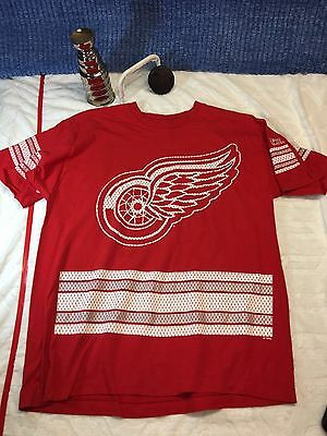 Vintage Detroit Red Wings Jersey Style Shirt XL X LARGE Pro Player C8 ()