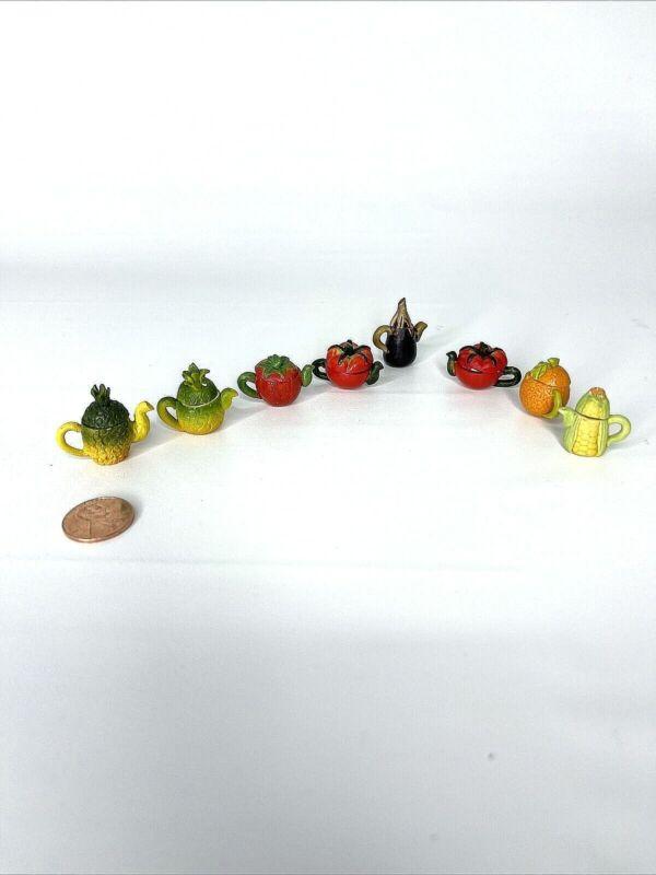 Ceramic Lot 9 Mini Fruit & Vegetable Teapots