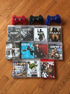 Lot of ps3 games and 3 joysticks
