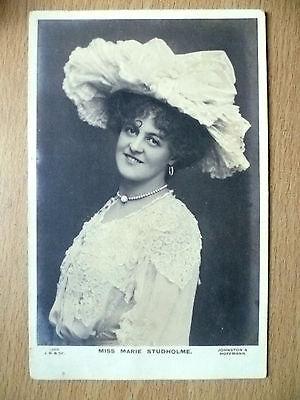 1904 Used Postcards- Actresses MISS MARIE STUDHOLME + Stamp