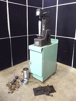 Rockwell Hardness Tester Model 4 Our - Weights Cabinet - Moves Easily  S2571x