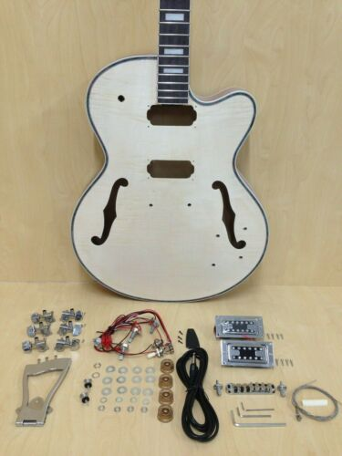 E-273MA-DIY Complete NO-SOLDER,Hollow Body Electric Guitar DIY Kit