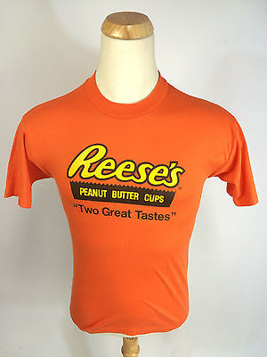Minty Vintage Reeses Candy Hershey Chocolate T Shirt 80s Halloween Small USA - 80's Halloween Candy