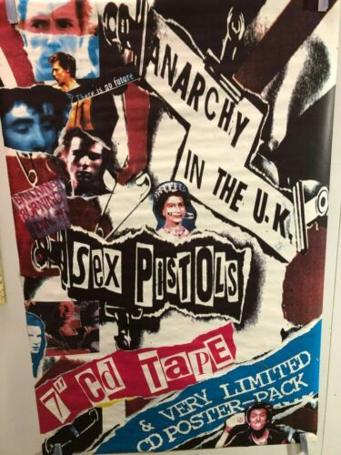HUGE SUBWAY POSTER SEX PISTOLS ANARCHY IN THE UK VERY RARE PROMO Vicious, Rotten