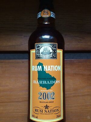 Rum Nation Barbados 2002, 8 years, 70cl 43%vol, old bottle