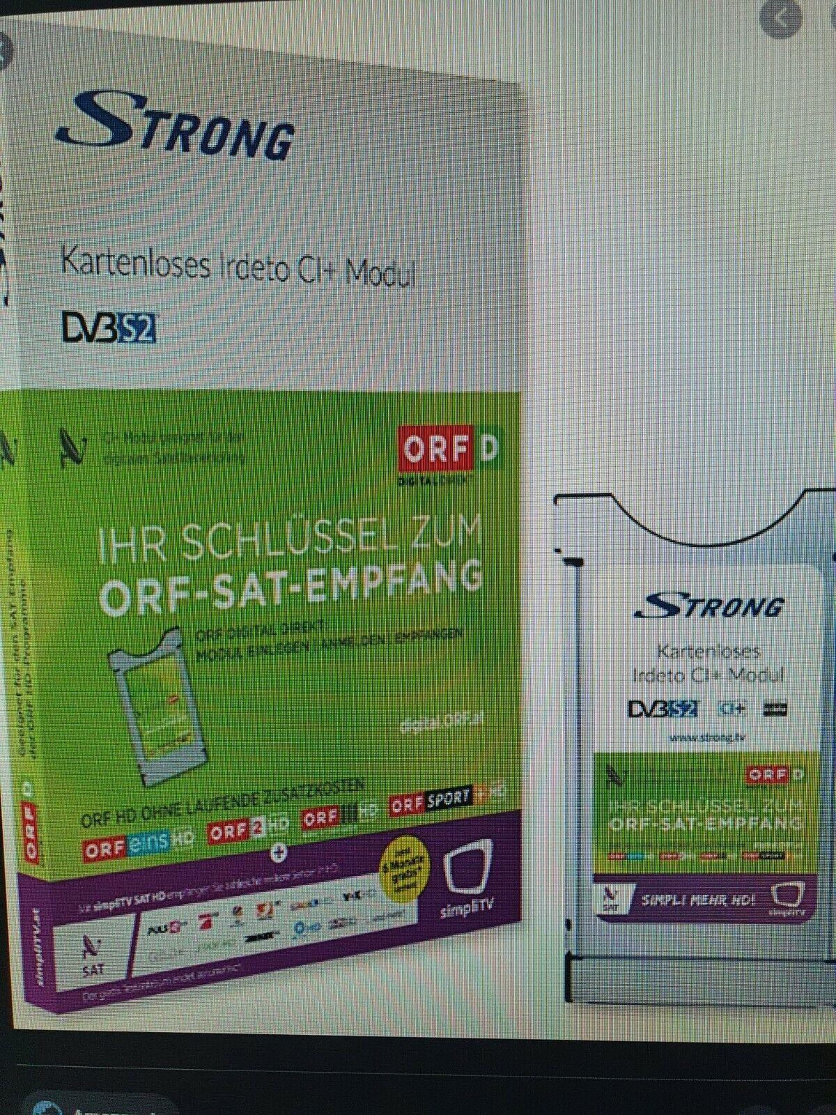 Freischaltung ORF Karte oder Modul!!