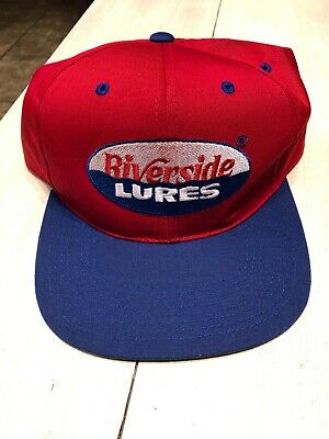 da05a247 VIntage Riverside Lures Fishing Snapback Hat / Cap New Old Stock VTG  Deadstock