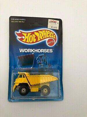 Hot Wheels Workhorses Dump Truck 1171 1988 Die Cast Metal Brand New On Card