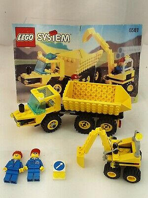 Vintage (1996) LEGO Town Construction set 6581 Dig 'N Dump - RARE w/instructions