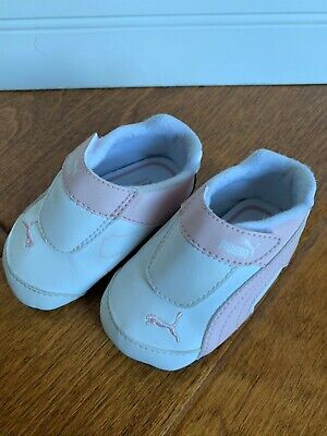 Puma Kinder Fit Shoes Baby Size 3 White Pink 300701 28 preowned
