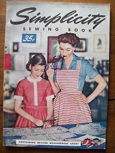 1954 SIMPLICITY SEWING BOOK ~ HELPFUL HINTS ~ BEGINNER TO EXPERT ~ ILLUSTRATED