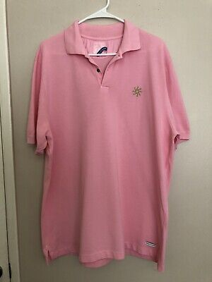 Le Sirenuse Franco's Bar Pink 100% Cotton Polo Shirt SZ XXL Made In Italy