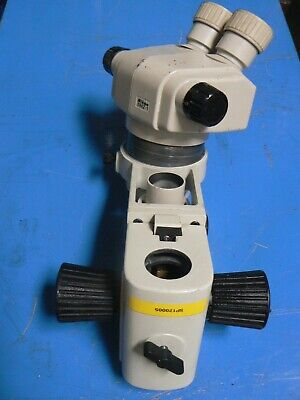 Nikon Smz-1 Stereo Microscope Head With Focusing Mount Holder And Light Mount