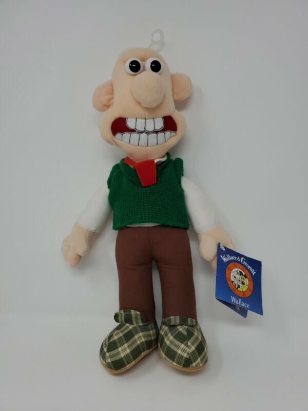 "14"" Wallace & Gromit Plush WG002-Wallace New With Tags!"
