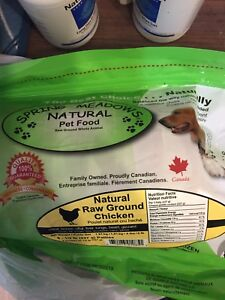 Spring Meadows natural pet food raw chicken