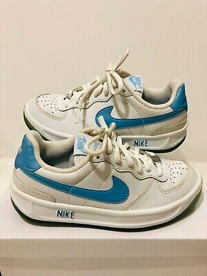 Nike Ace 83 Trainers Vintage Running White Blue Original Rare With Metal Tag