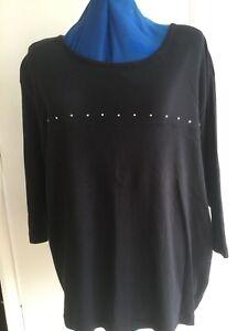 Ladies Mackays Para black t-shirt size 26