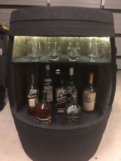 Wine Barrel Bar - perfect for the man cave or perfect for christmas