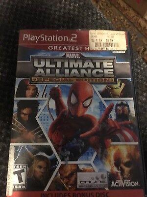 Marvel Ultimate Alliance Special Edition Sony PlayStation 2 Bonus Disk