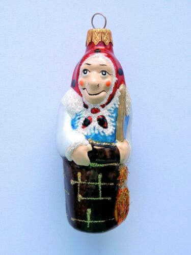 Russian Christmas Ornament Baba Yaga Xmas Decor Glass Modern