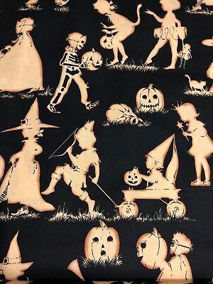 Halloween Trick Or Treaters (Alexander Henry Halloween Lane Trick Or Treaters Kids Silhouettes Fabric)