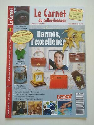 Magazine (comme neuf) - Le carnet du collectionneur 212 (octobre 2015)