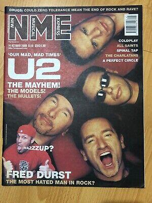 NME Magazine 14 Oct 2000 U2 Fred Durst Coldplay Spinal Tap The Charlatans comprar usado  Enviando para Brazil