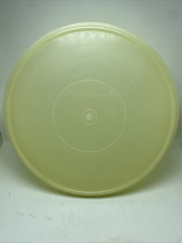 Tupperware Yellow 26 Cup Fix N Mix Bowl #274-4 + Sheer Seal Lid #224-16 Vintage