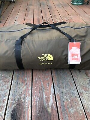 """NORTH FACE """"TRAILHEAD 6"""" Camping TENT w/RAINFLY Poles/Stakes/Bag COMPLETE"""