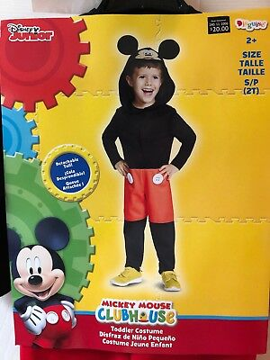 2t Mickey Mouse Costume (Disney Mickey Mouse Child Deluxe Complete Costume 2T S / P Disguise)