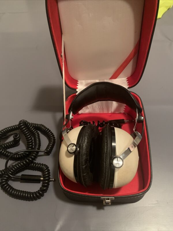 Pioneer SE-50 2 Way Vintage Stereo Headphones With Case & Extension - Tested