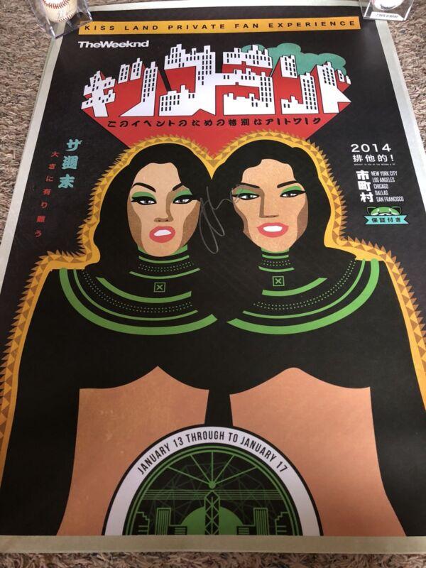 """The Weeknd Signed Poster -Abel Makkonen 18"""" x 24"""" VIP Lithograph/Poster BECKETT"""