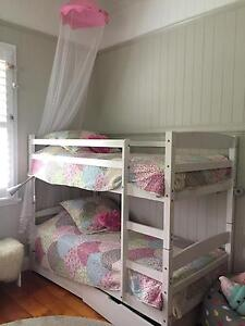 Classic White Wooden Double Bunks Oxley Brisbane South West Preview