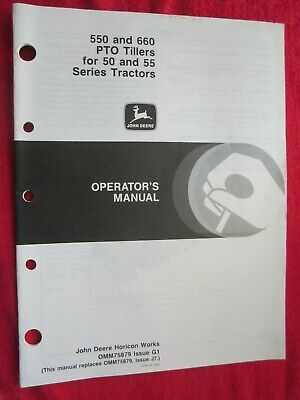 John Deere 50 55 Series Tractors 550 650 Pto Tiller Operators Manual