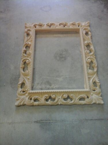 Specchio Barocco Grezza Da Colorare In Pasta Di Legno E Legno Sottocosto Da Prod