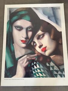 The Green Turban Tamara de Lempicka Print on Board