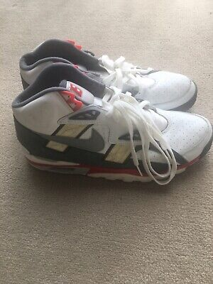 Used Vintage Rare Men 99 Nike Air Trainer SC Bo Jackson White/Red/GreySize 11.5
