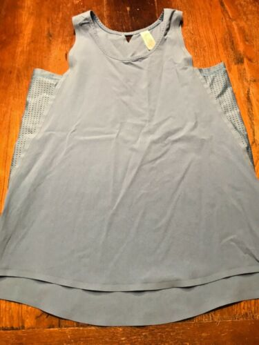 ivivva Girls shirt tank Top blue periwinkle size 14 GREAT CONDITION cute!