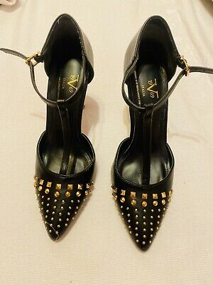 Versace Italia Branded Party Studded Heels Women Shoes Size 8.5 Worn Once 1969