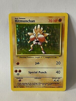 Hitmonchan 7/102 Holo Foil LP - Base Set - Pokemon Card