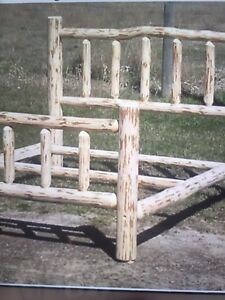 """For sale"" Brand new rustic log Bedframe's!"