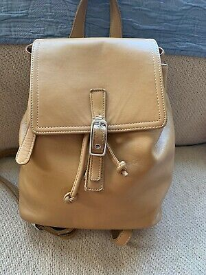 Vintage Coach Legacy #9858 Tan Leather Backpack Bag, VG Preloved Condition